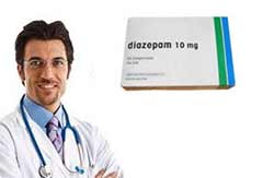 doctor with diazepam 10 mg tablet box